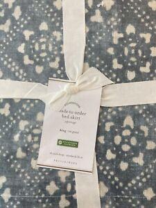 "Pottery Barn Bed Skirt King 14"" Drop Organic Cotton"