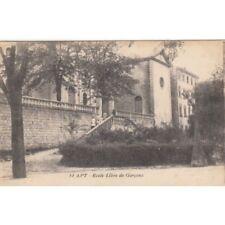 Cartes postale anciennes APT 14 école libre de garçons