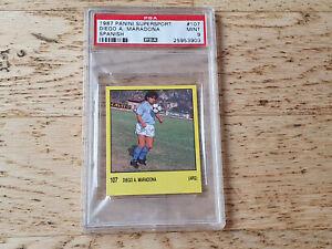Panini 1987 Spanish Supersport 87, rare card Diego Maradona #107, PSA 9 MINT