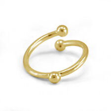 Fashion Double Ball Bypass Adjustable Ring Women's 14k Yellow Gold Finish Lovely