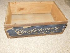 c1920's MATLOW BROS CRYSTAL FRUITS WOODEN BOX PURITY CONFECTIONERY EXCELLENCE