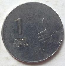 India 1 Rupee coin 2008