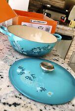 Le Creuset Lotus Cast Iron Soup Pot 2.75qt - GORGEOUS!! New With Box!