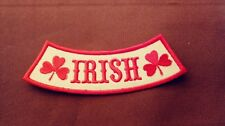 Support 81 Hells Angels MC Side Rocker Patch. Irish Shamrock Rocker