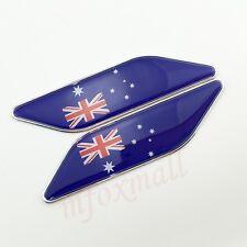 2PCS Car Accessories Fender 3D Decal Sticker Trim AU Australia Flag Badge Emblem
