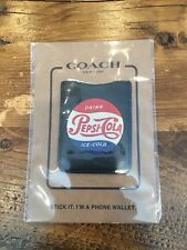 Coach x Pepsi Leather Cell Phone IPhone Android Pocket Sticker Wallet - Black
