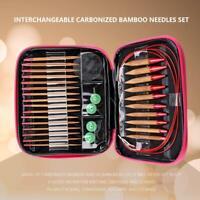 Austauschbare Bambus Nadel Stricknadeln Rundstricknadel 13 Größen Mit PU-Paket ♥