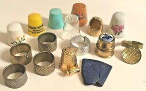 Antique Vintage Thimbles - Lot of 16