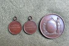 DISTRETTO di smethwich & Società Fotografica MEDAGLIA e due relative catenelle-ANNI 1920