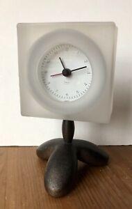 Vintage Michael Graves Alarm Desk Clock Square Modern Footed Rare!