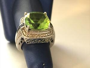 STS Chuck Clemency Sterling Silver Peridot Gemstone Ring Sz 7