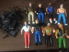 1983 Galoob A-Team Action Figures 6� Lot of 8 With A Ton Of Accessories Weapons