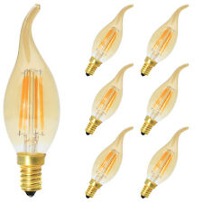 6x 4W E14 Retro Dimmbar Glühfaden LED Kerze Lampe, 2700K Warmweiß 400LM