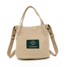 Women's Canvas Handbag Shoulder Messenger Bag Mini Satchel Tote Purse Bags Khaki