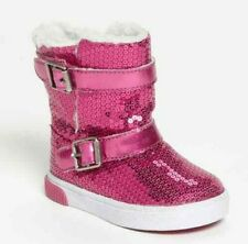 Striderite Little Girls Hot Pink Low Sparkle Boots Little Girls/Toddlers Size  6