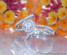Feminin: Zarter Brillanten Solitär Ring, 0.70 ct. W SI1/2 Weißgold 750 ab 2.990€