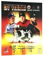 Roger Clemens Dallas Keuchel Mike Scott signed 16X20 Photo Cy Young TriStar