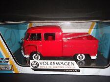 Motormax Volkswagen Type 2 T1 Delivery Pickup Red 1/24 79343