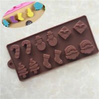 1x Silicone Brown Backing Mold for Christmas Cake Chocolate Biscuit Candy