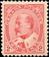 1903 Mint Canada F+ Scott #90 2c King Edward VII Issue Stamp Never Hinged