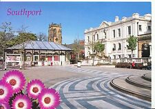 Lancashire Postcard - Southport - Town Gardens & Town Hall - Lord Street SM26