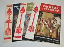 BSA - OA…SET OF 3 CEREMONY BOOKS…ORDEAL - BROTHERHOOD - VIGIL…1968 PRINTING