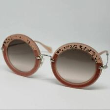 Miu Miu Round Women Sunglasses Gray Gradient Lenses OMU 08RS