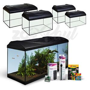 Aquarium Startup LED Komplett-Set Aquarienset Glasbecken Nano Glas Geschenkset