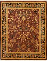 "Hand-knotted Carpet 8'0"" x 10'2"" Traditional Wool Rug"