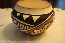 C.Chavez Laguna Pueblo bowl bulbous form,geometric designs[4indian]