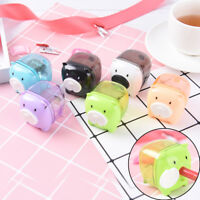 Mini Cute Cartoon Pig Pencil Sharpener For Student Kids Gifts Office Statione DD