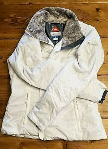 Columbia Women's Winter Snow Ski Jacket White Gray Omni-Heat Lining Size XL
