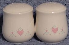 corning in Corelle  Forever Yours salt & pepper set w/ stoppers NICE