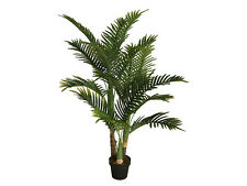 Large Faux Palm Tree Plant in Pot Artificial Flower Fake Floral Display Garden