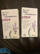 Precision Xtra Blood B-Ketone Test Strips 2 Boxes. 20 Total- Exp 2/21 Or Later