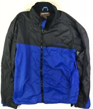 Marmot Mens Blue Precip Windbreaker/Rain Jacket Size XL Blue/Black