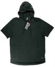 NWT $55 Under Armour Mens XL Short Sleeve Hoodie Sweatshirt (Black)