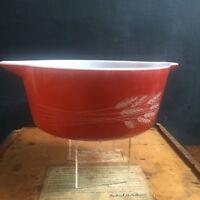 Vintage Pyrex Autumn Harvest Cinderella Round Casserole #475B 2.5 Liter