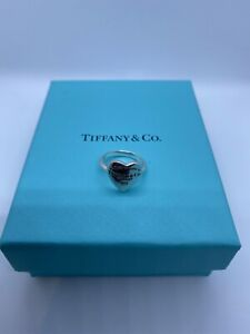 Rare Please Return To Tiffany&Co New York Sterling Silver Heart Signet Ring sz H