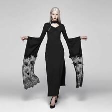 PUNK RAVE Kimono Heart Dress Gothic Kleid Hoch Geschlitzt Cut-Out Kimono-Ärmel