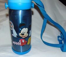 """Collectible 10"""" Blue MICKEY MOUSE Stainless Steel THERMOS Carry Strap League 34"""