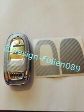 Carbon Silber Folie Dekor Schlüßel Audi 8K A3 4G RSQ7 8PA4 S4 A5 8T A6 4F A8 Q5