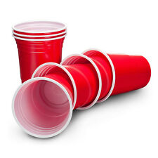 Useful 50 Packs Red Cups Party American Disposable Plastic 16oz Party Red Cups