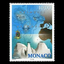 Monaco 1998 - Grimaldi Seamounts Map Science - Sc 2104 MNH