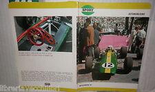 VECCHIO QUADERNO SCOLASTICO SPORT AUTOMOBILISMO LOTUS F1 MONACO 1967 DI SCUOLA