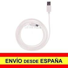 Cable Datos Cargador USB - MICRO USB Resistente Blanco 1,5 Metros a1118