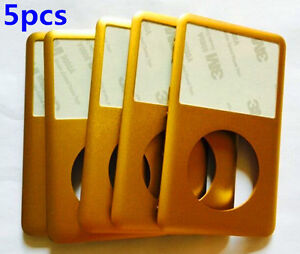 5PCS Gold Front Faceplate Cover for iPod 6th/7th gen Classic 80GB 120GB 160GB