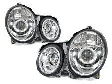 DEPO 00-02 Mercedes Benz W210 E Class Projector Chrome Headlight Pair DOT w/Bulb