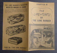 1940's Merita Bread The Life of Tonto by Lone Ranger Chapter 10