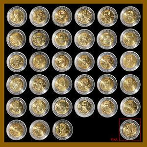 Mexico 5 Pesos (33 Pcs Coin Set), 2008-2010 Bicentenary Independence Bimetalic